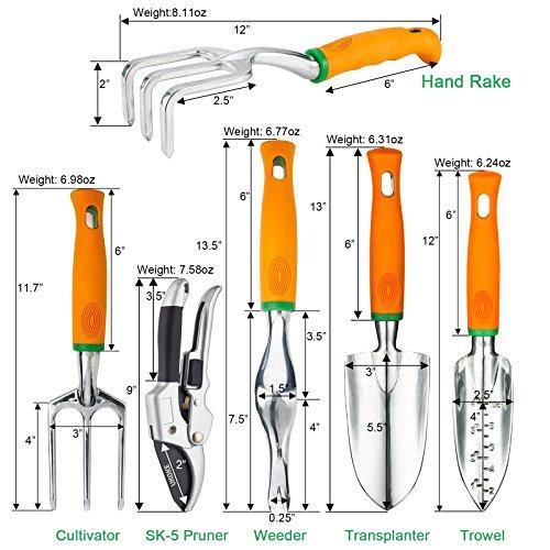 UKOKE Garden Tool 12-Piece Aluminum Hand Tool Kit: Top Choice