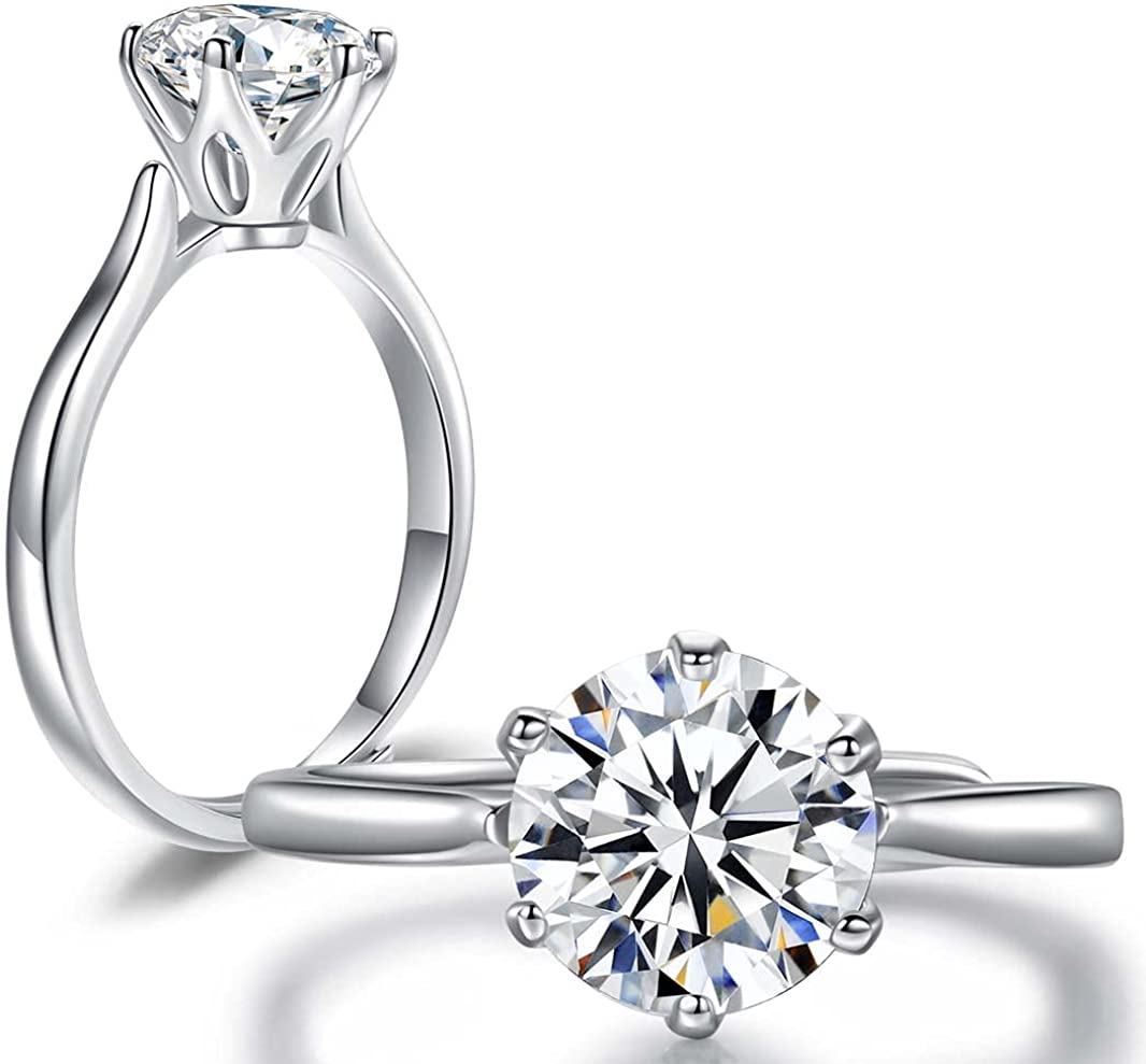 Moweed 2 Carat Platinum Time sale Plated Cubic New popularity Sterling Zirconia