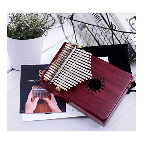 Kalimba, Daumenklavier 17 Keys Finger Kalimba Mbira Sanza Daumenklavier im Taschenformat mit Unterstützung Tasche Tastatur Marimba Holz Musikinstrument