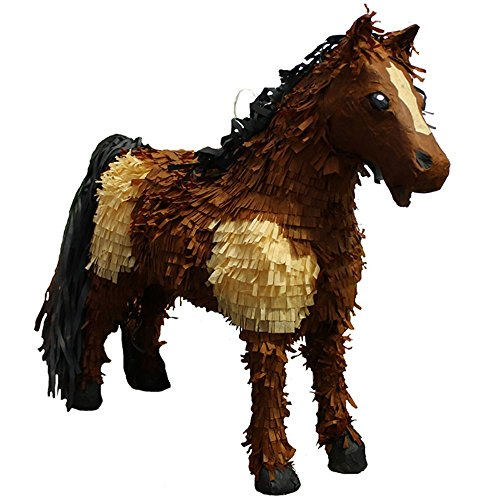 Pinatas 3D Horse Party Game, Decoration and Photo Prop - Brown/Tan