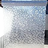 Película de privacidad de Ventana de Mosaico, Adhesivo de Vidrio Opaco estático, Adecuado para Sala de reuniones de Oficina baño Familiar balcón F 60x300cm