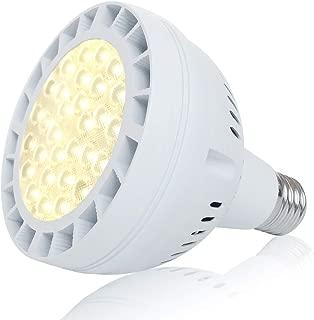 45W Daylight LED Grow Light Bulb, 400W Equivalent Full Spectrum LED Plant Grow Light for Indoor Plants, E26 Plant Grow Bulb for Fruits Succulent Plants Vegetables Grow Walls, Sunlight White UV&IR