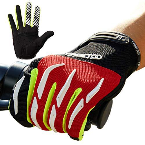FREETOO Fahrradhandschuhe, rutschfeste und Stoßdämpfende Radsporthandschuhe Trainingshandschuhe Fahrrad Handschuhe Freizeit Ideal Gloves für Radsport MTB Mountainbike Sommer Fitness