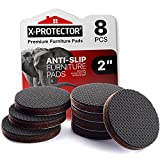 X-PROTECTOR Non Slip Furniture Pads – 8 pcs Premium Furniture Grippers 2'! Best SelfAdhesive Rubber Feet Furniture Feet – Ideal Non Skid Furniture Pad Floor Protectors – Keep Furniture in Place!