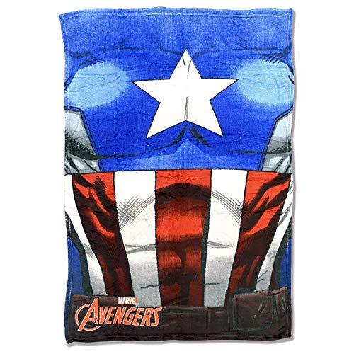 Marvel Avengers - Coperta Plaid in Pile Coral Capitan America