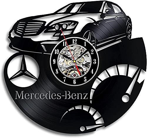 kkkjjj El Reloj de Pared con Disco de Vinilo Mercedes-Benz Decora los Regalos de Arte Moderno para niños y niñas y GANA premios de retroalimentación