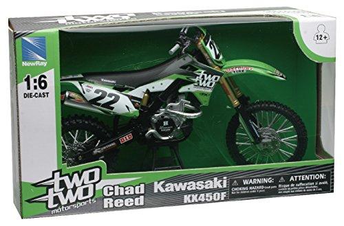Kawasaki 2014 KX450F [NewRay 49493], # 22, Chad Reed, Twotwo, 1: 6 Die Cast