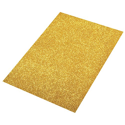 Rayher 3005106 Crepla Platte Glitter, 30x45x0,2cm, gold