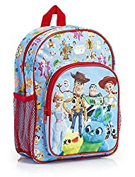 ENJOY YOUR FAVOURITE TOY STORY CHARACTERS --- This amazing Toy Story backpack for kids features an all over print with all your favourite characters from the movie including, Forky, Woody, Buzz, Ducky & Bunny, Bo Peep and Jessie on a blue background....