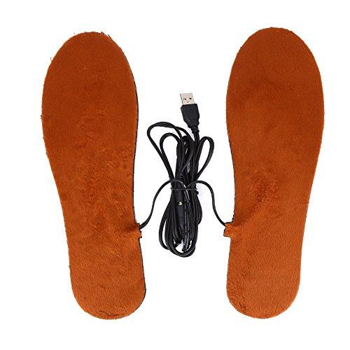 Solette riscaldate, Unisex Supporto caldo del pattino di scarpe ( Colore : Brown For Men )
