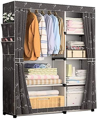 Armadio Camera da Letto Semplice Portatile Guardaroba dormitorio Camera da Letto Vestiti stoccaggio Standing UOMUN (Color : A)
