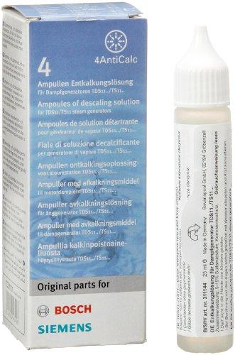 Bosch TDZ1101 ontkalkeroplossing (4 x 0,25 ml, voor een zuinige reiniging en een lange levensduur, voor TDA30/TDA50/TDA70/TDA75/TDI90/TDI95)