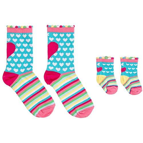 Cucamelon - Mummy and me - Je ein Paar Socken für Mama und Baby (0-12 Months) - getreift