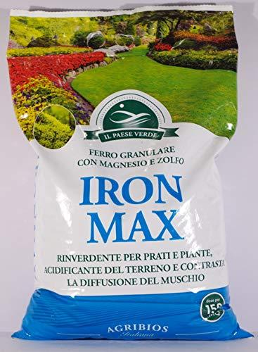 Agribios 8025606022517 Iron Max Solfato di Ferro Granulare in confezione da 5 kg