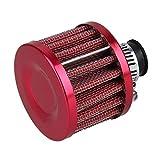 Mini 13mm filtro de aire de aceite tapa de válvula de ventilación de admisión de cárter de admisión del cárter de admisión del filtro de aceite del aire universal de 13 mm (rojo)
