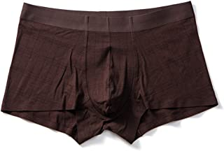 Dos tigres 7 hombres sin costuras ropa interior sólida color oscuro patrón juvenil boxers