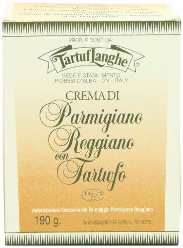 TARTUFLANGHE Parmigiano Reggiano Sauce mit Sommertrüffel, Parmesan Sauce, 190g