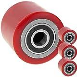 PrimeMatik - Ruota per transpallet Rullo per Pallet di Poliuretano 80x70 mm 800 kg 4-Pack