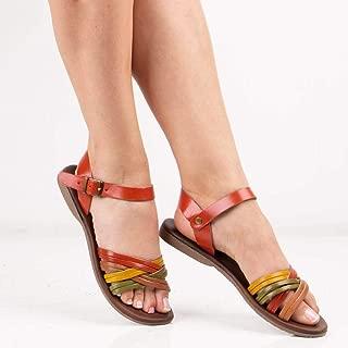 Sail Lakers - Çok Renkli Deri Kadın Sandalet
