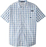 Columbia Camisa de Manga Corta clásica Super Bonehead para Hombre, Talla XL/Alta, Azul vívido/Caja Grande