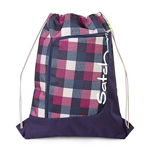 SATCH Berry Carry Kinder-Sporttasche SAT-SPO-001-966, 44 cm, 12 L, Purple Blue Checks