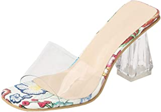 Zanpa Women Fashion Clear Summer Shoes Peep Toe Slip On Sandals