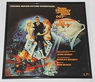 Diamonds Are Forever 007 James Bond Sean Connery Signed Autographed Original Motion Picture Soundtrack Record Album with Vinyl Framed Loa
