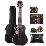 Caramel 30' CB904G 6 String Exotic Ebony Wood Guitalele Professional Travel Guitar Gigbag Kit