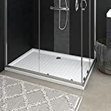 Plato de ducha, Base de mampara Plato de ducha Plato de ducha con lunares Blanco 80x120x4 cm ABS