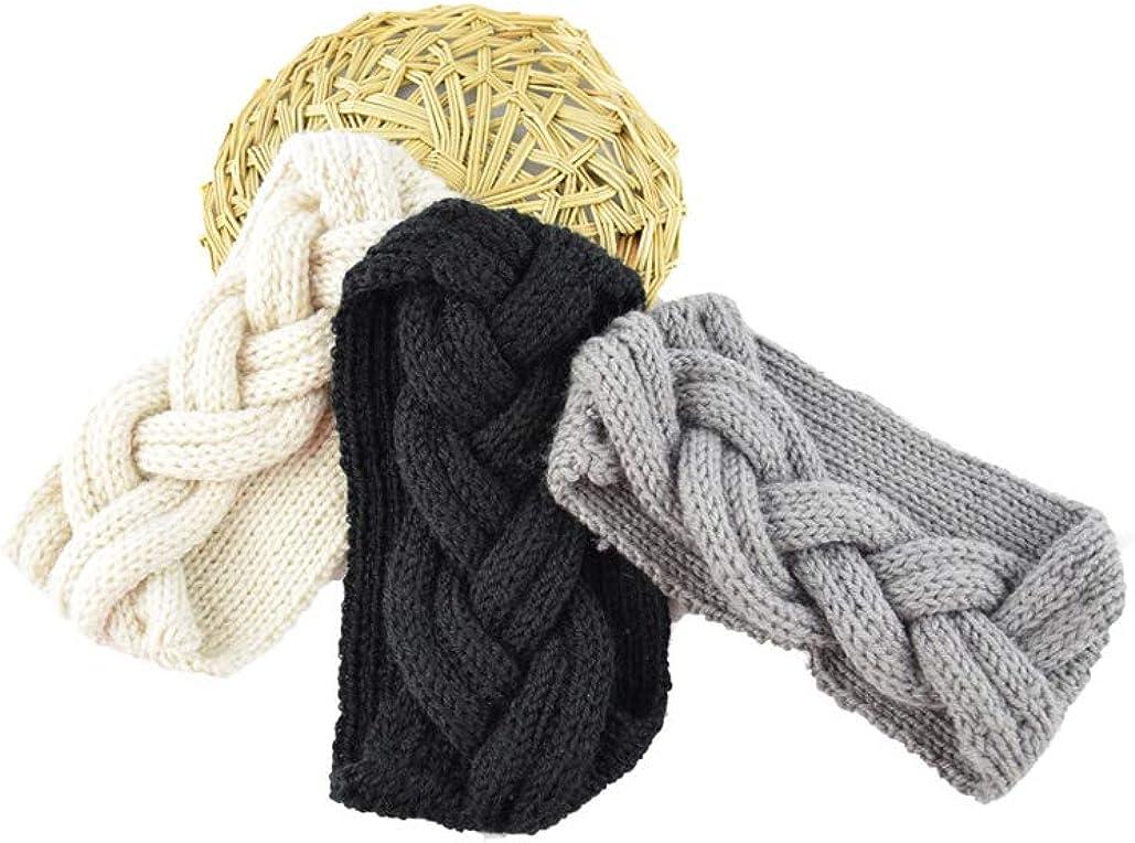 Elifemona Womens Fashion Crochet Headband Knitted Headwrap Hair Bands Arm Warmer