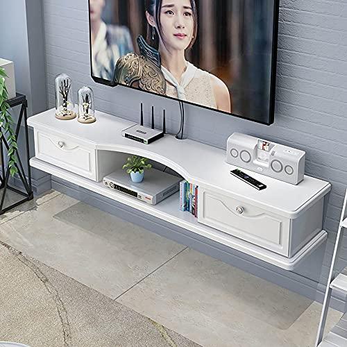 Mueble TV de Pared,Sala de Estar, Apartamento PequeñO, Soporte para TV Flotante, Estante para Decodificador Montado en la Pared para Dormitorio/D / 120cm