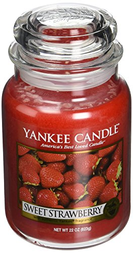Yankee Candle Sweet Strawberry Large Jar Candle, Fruit Scent