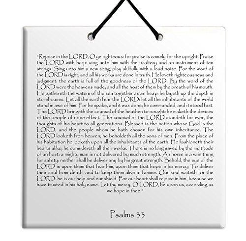 Hout MDF tegel muur opknoping Engels Psalmen hoofdstuk 33 TEHILLIM