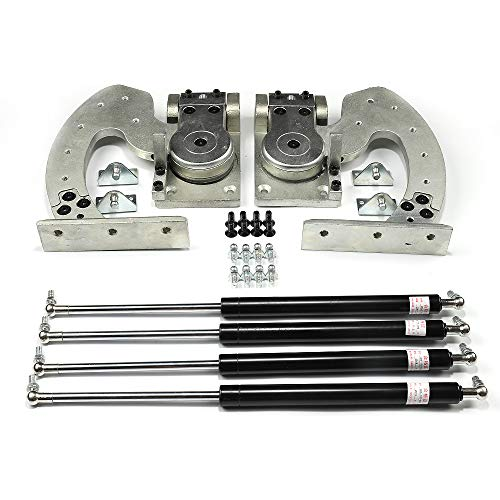(Universal) Scherentüren Vertikale Lambo Tür Kit für Autos für Audi Dodge Ford Toyota Nissan Chevrolet Etc. 90 Grad vertikale Umwandlung,Silber