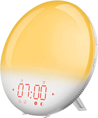 LOFTER Reveil Lumiere Intelligent Wake Up Light LED Lampe de