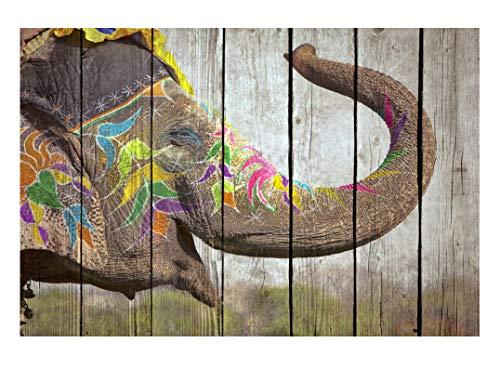 Artestock houten schilderij 60 x 40 of 120 x 80 cm gelakte folie met palleteffect op multiplex.