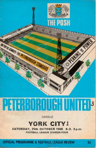 Peterborough United - THE POSH - v York City - 25/10/1969 - Programme