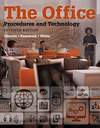 Compare Textbook Prices for Simulations Resource Book: The Office Procedures and Technology, 7th 7 Edition ISBN 9781337689663 by Oliverio, Mary Ellen,Pasewark, William R.,White, Bonnie R.