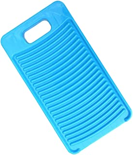 Yardwe Plastic Mini Washboard Washing Board Clothes Board Laundry Washboard for Home (Blue)
