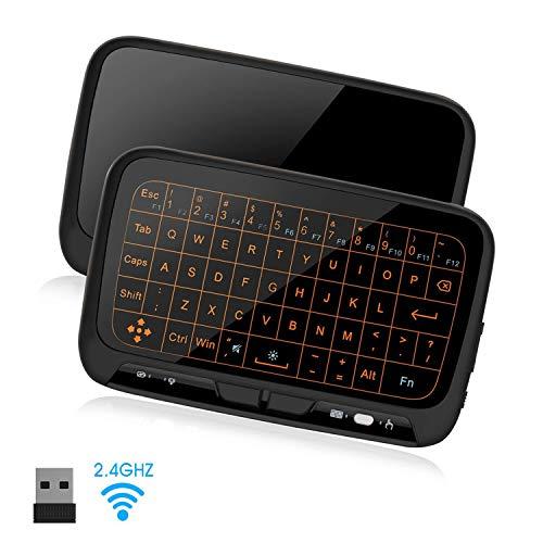 Szilbz Air Maus Fernbedienung,Mini Tastatur Wireless mit Touchpad