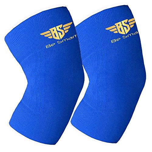 UK 2 x Kniebandage, Kompressionsbandage für Sport, Gelenkschmerzen, Arthritis, lindert Arthritis, Blau, Größe 4XL
