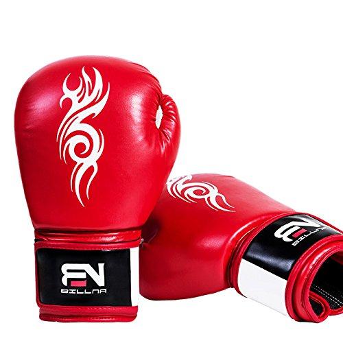 LJJTDS Pro Boxhandschuhe Muay Thai Kick Boxtraining Handschuhe Boxsack Kampf Kampf Sparring Stanzen Handschuhe Atmungs 6oz Für Kinder (Unisex),Red