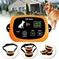 Wireless Dog Fence, Pet Electric Containment System, Safe Effective Beep & Shock Dog Fence with Waterproof Collar, Adjustable Control Range & Display Distance,Electric Pet Fence,for2dogs