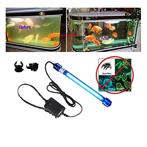 Aquarium UV Light Sterilizer Water Clarifier UV Light Clean Green Algae Pet Dog House...