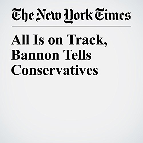 All Is on Track, Bannon Tells Conservatives copertina