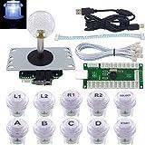 SJ@JX Arcade Game LED DIY Kit Mechanical Keyboard Switch LED Button PC MAME Retropie Arcade Joystick Controller Zero Delay USB Encoder