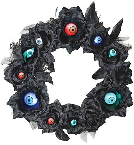 Disguise Wreath 15IN LU Eyeball Black