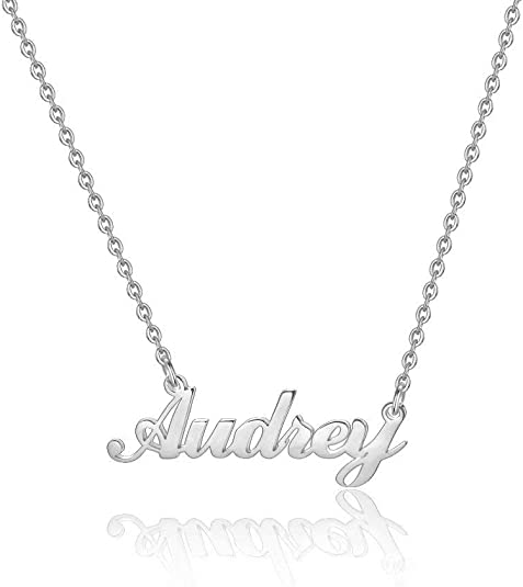 Hidepoo Custom Name Necklace Personalized – Stainless Steel Customized Name Pendant