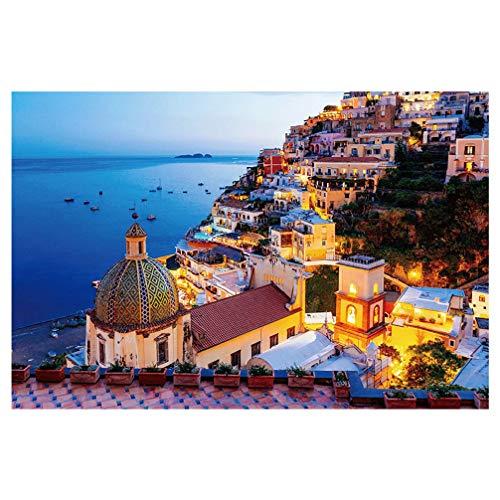 GARNECK Puzzle 1 Scatola 1000 Pezzi Puzzle Mar Egeo Santorini Grecia Luogo di FAMA Mondiale Puzzle Paesaggio Puzzle Educativo per Adulti