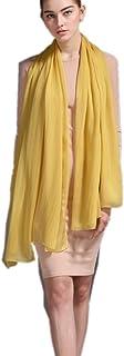 prettystern XXL Seide Tuch Stola Uni-farbe Sarong Pareo